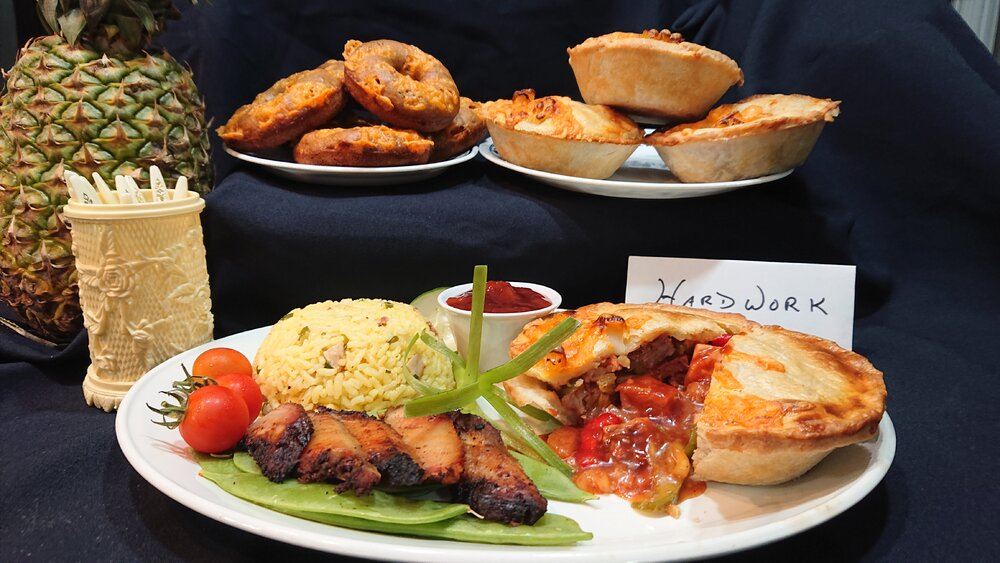 1 The Main Plate  ( Smoked Sweet and Sour Pork Belly Mini Pie )with Pineapple smoked Pork Bell...JPG