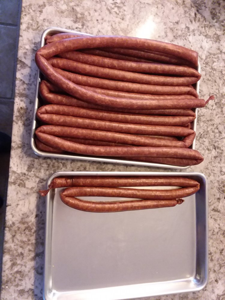 5 pound load of Snack Sausages. 02_16_19.jpg