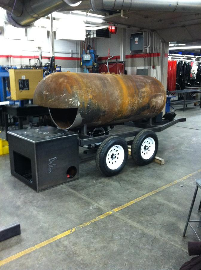 500gal lp tank offset smoker project | Smoking Meat Forums - The