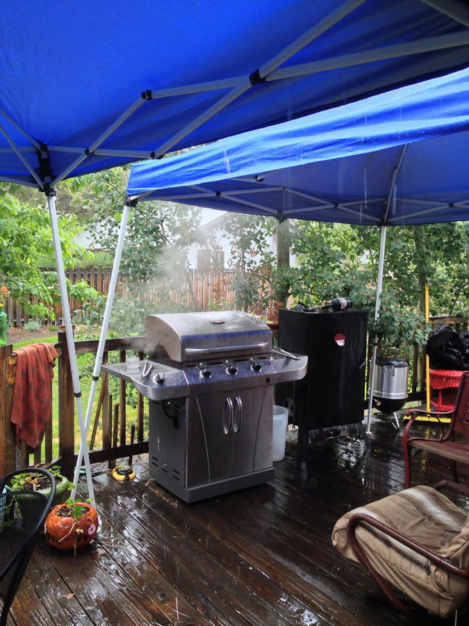 Lets See Your Cooking Area Looking For Ideas For A Canopy Setup For My Cooking Area Smoking Meat Forums The Best Barbecue Discussion Forum On Earth