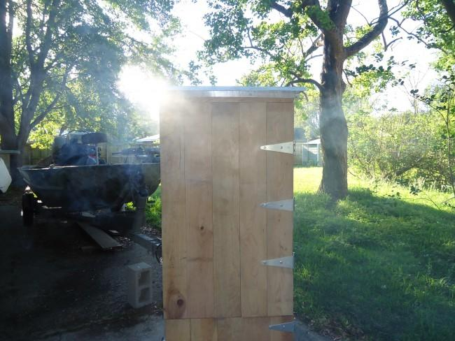 36cu ft  Cypress/ Hardie board Outhouse smoker build -pics