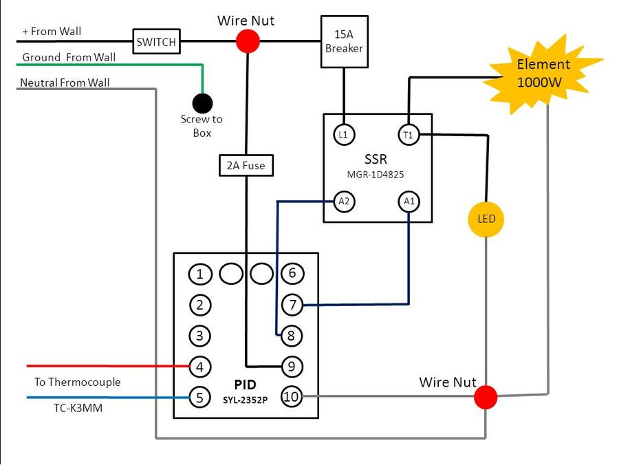 pid wiring diagram 220v wiring diagram  need pid 220 wiring help smoking meat forums the best barbecue